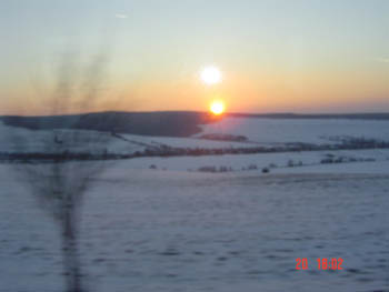 Czech Sunset  01 from the bus